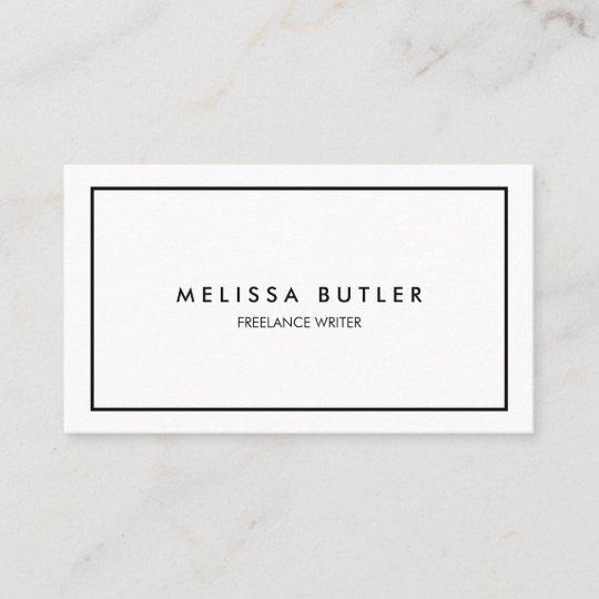 Minimalist Professional Elegant Black And White Business Card