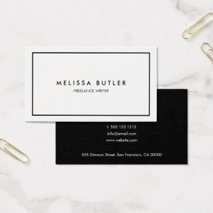 Elegant business cards templates zazzle minimalist professional elegant black and white business card colourmoves