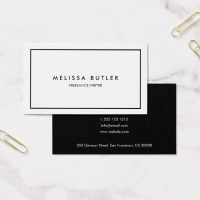 Professional black and white business card zazzle colourmoves Images