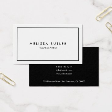 CrispinStore Minimalist Professional Elegant Black and White Business Card