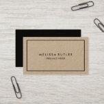 "Minimalist Professional Elegant Kraft Business Card<br><div class=""desc"">Minimalist and elegant professional card on rustic kraft paper.</div>"