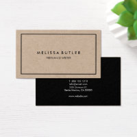 Minimalist Professional Elegant Kraft Business Card
