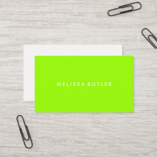 Green business cards templates zazzle minimalist professional lime green business card colourmoves