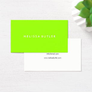 Lime green business cards templates zazzle minimalist professional lime green business card reheart Choice Image