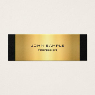 Minimalist Professional Modern Black and Gold Mini Business Card
