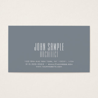 Minimalist Professional Modern Elegant Architect Business Card