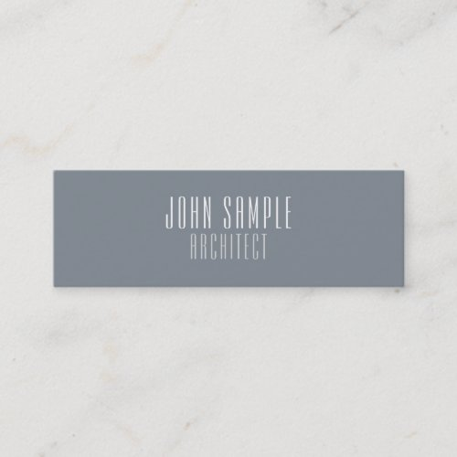 Minimalist Professional Modern Elegant Architect Mini Business Card