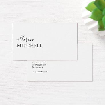 crispinstore Minimalist Professional Modern Elegant Script Business Card