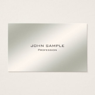 Minimalist Professional Modern Elegant Simple Business Card