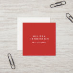 """Minimalist Professional Modern Square Business Card<br><div class=""""desc"""">Minimalist modern professional card. You can change the red color by clicking on the button customize.</div>"""