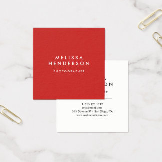 Minimalist Professional Modern Square Business Card