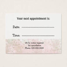 Minimalist Professional Specialist Appointment Business Card