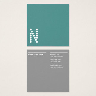 Minimalist Professional Square Business Card