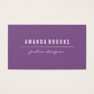 Minimalist Purple Business Card