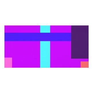 Minimalist Purple Photo Card