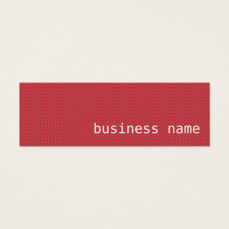 Minimalist Red and Black Business Card