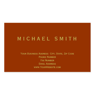 Minimalist Red Yellow Business Card