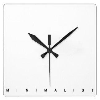 Minimalist Reloj Cuadrado