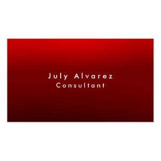Minimalist rojo oscuro elegante llano de Brown Tarjetas De Visita