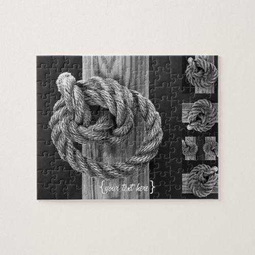 Minimalist Rope Knot Jigsaw Puzzle