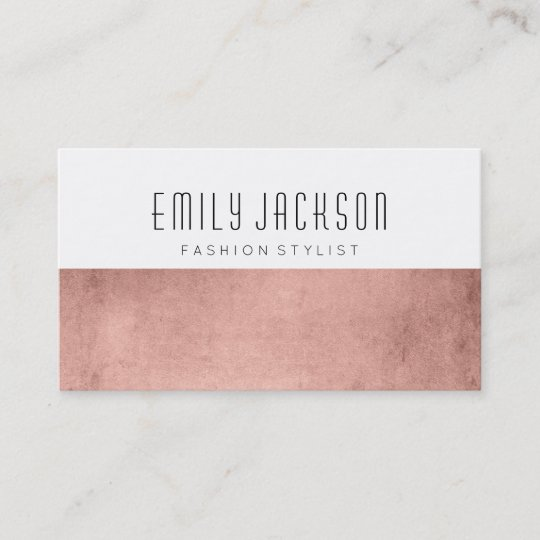 Minimalist rose gold business card zazzle minimalist rose gold business card colourmoves