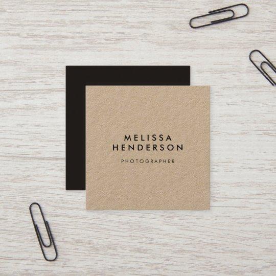 minimalist rustic kraft professional square business card zazzle com