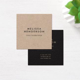 minimalist rustic kraft square business card