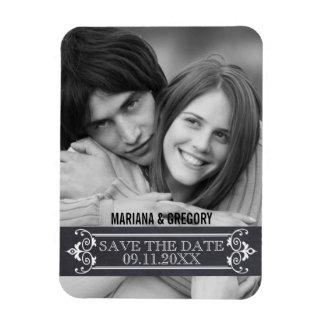 Minimalist Save the Date modern wedding photo Rectangular Magnets