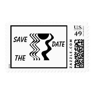 Minimalist Save The Date Stamp