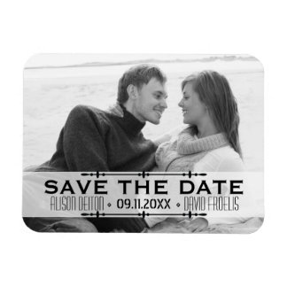 Minimalist Save the Date simple wedding photo Magnet