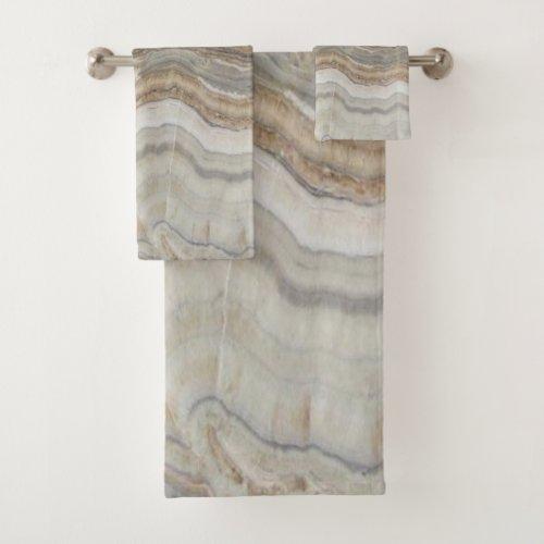 minimalist scandinavian granite brown grey marble bath towel set
