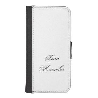 Minimalist Script Plain Personalized 3d Monogram iPhone SE/5/5s Wallet Case