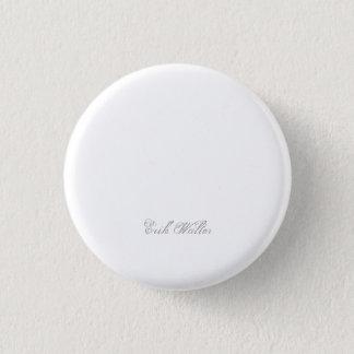 Minimalist Script Plain Personalized 3d Monogram Pinback Button
