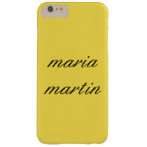 Minimalist Script Text / Yellow Barely There iPhone 6 Plus Case