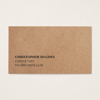Minimalist Simple Elegant Kraft Paper Consultant Business Card