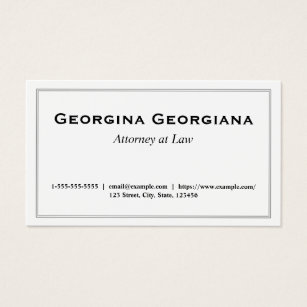 Borders business cards templates zazzle minimalist simple elegant with line border business card fbccfo Images