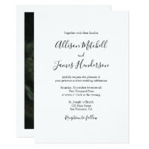 Minimalist Simple Handwritten Script Wedding Photo Invitation