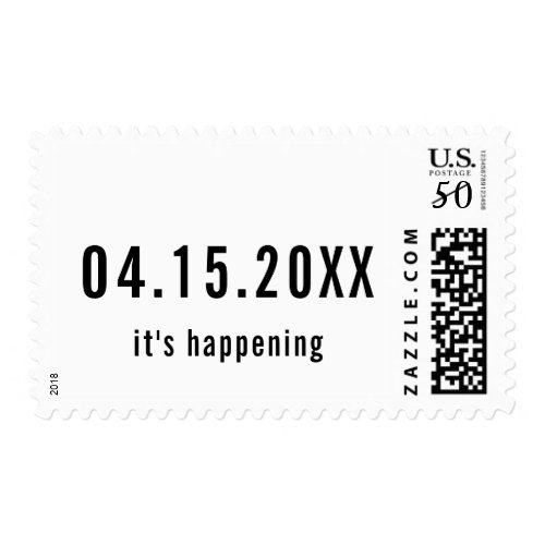 Minimalist Simple Modern Trendy Save the Date Postage