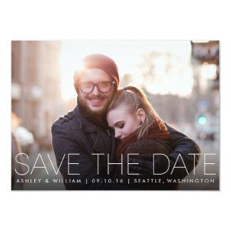 Minimalist Simple Photo Save the Date Card