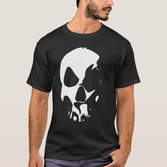 Minimalist Skull I (Screen Style) T-Shirt