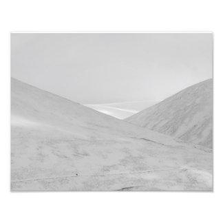 Minimalist Snow Covered Mountains Photo Print
