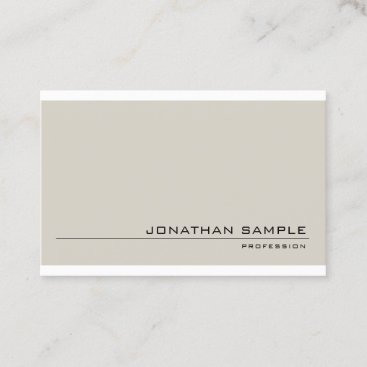 Minimalist Sophisticated Design Modern Plain Business Card