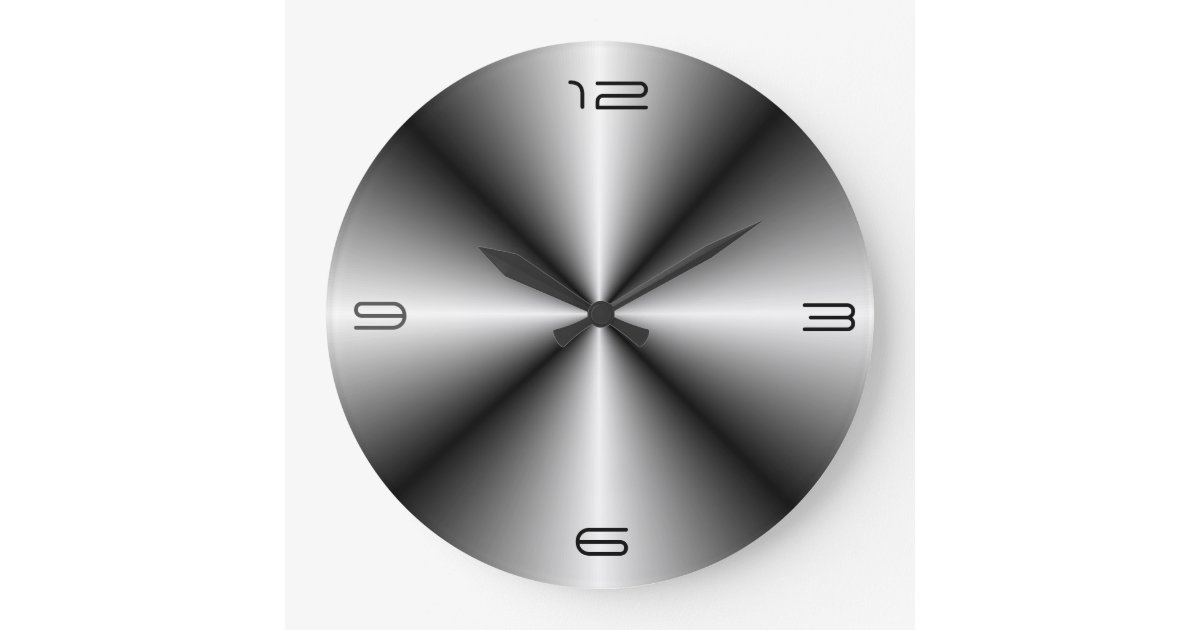 Minimalist Stainless Steel Lookwall Clock Zazzle