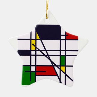 minimalist star ceramic ornament