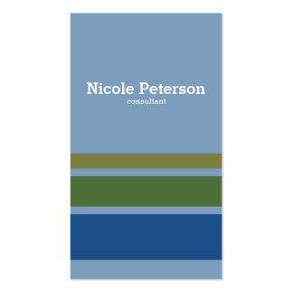 Minimalist stripes natural colors business card