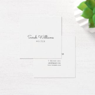 Minimalist Stylish Handwritten Script Square Square Business Card