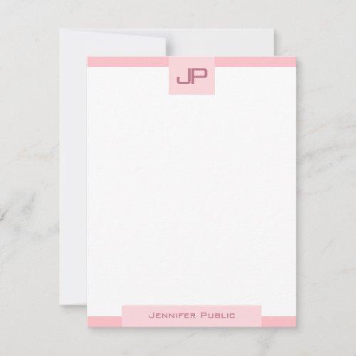 Minimalist Template Elegant Blush Pink Monogram