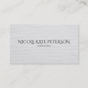 minimalist text elegant textured consultant business card - Textured Business Cards