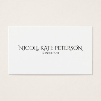 Minimalist Text Elegant Woman Consultant Business Card