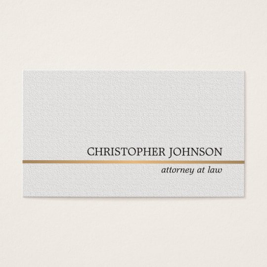 Minimalist Texture White Faux Gold Line Attorney Business